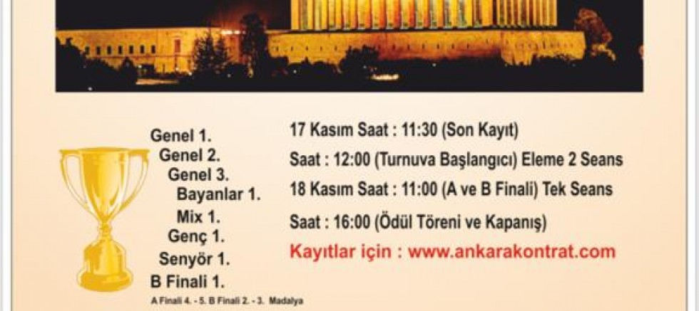 17. Ankara Başkent İkili Turnuvası – 17 Kasım 2018