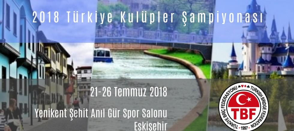 2018 Kulüpler Şampiyonası Eskişehir'de!