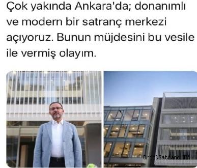 Ankara'da Modern Bir Satranç Merkezi Açılıyor!
