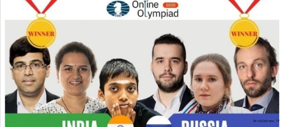 FIDE Online Olimpiyat Şampiyonları Rusya ve Hindistan oldu!