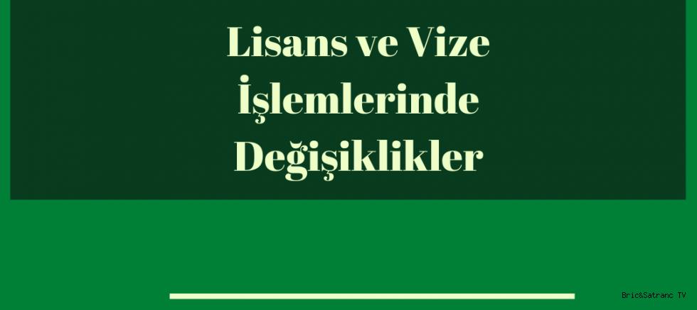TBF. Vize ve Lisans Talimatlarını yayınladı!
