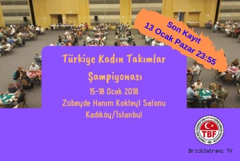 Türkiye Kadın Takımlar Şampiyonası Bugün başladı!