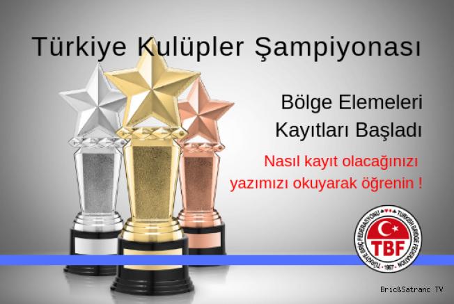 Türkiye Kulüpler Şampiyonası Bölge elemeleri Kayıtları Başladı!