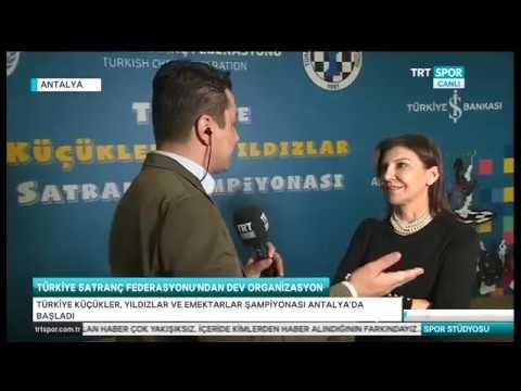 Türkiye Küçükler, Yıldızlar ve Emektarlar Satranç Şampiyonası TRT Spor Canlı Yayınında...