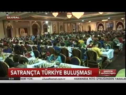 Türkiye Satranç Federasyonu'nun Antalya'daki Organizasyonu Ulusal Kanal'da...